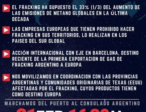 Marcha: Acción de Solidaridad Internacional contra el Fracking